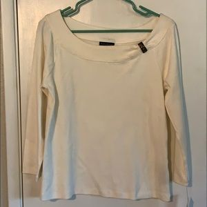 New w/tags  Rafaella  ivory knit top size Med